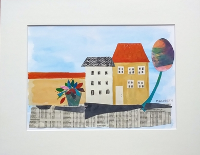 S/T de la serie Copenhague|CollagedeANALIA MALOSETTI| Compra arte en Flecha.es