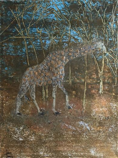 Jirafa|PinturadeEnric Correa| Compra arte en Flecha.es