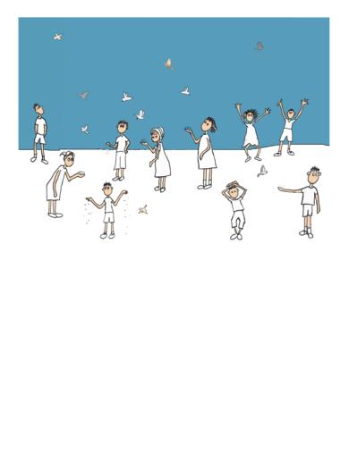 Tantos niños como pájaros|Obra gráficadeAna Valenciano| Compra arte en Flecha.es