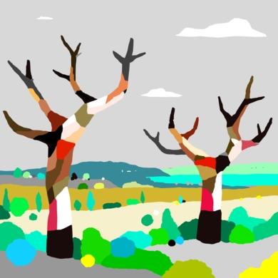 Los árboles-grúa|Obra gráficadeALEJOS| Compra arte en Flecha.es
