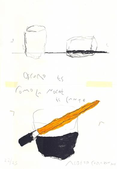 Apólogos: Oscuro Canto|DibujodeAlberto Corazón| Compra arte en Flecha.es