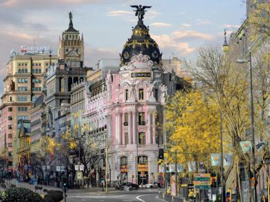 Metrópolis rosa|FotografíadeLeticia Felgueroso| Compra arte en Flecha.es