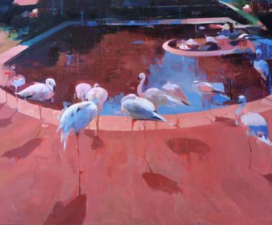 Flamencos|PinturadeCarmen Montero| Compra arte en Flecha.es