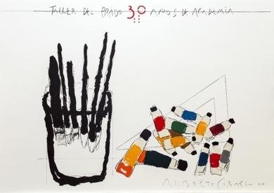 Cartel Original. Taller del Prado. 30 Años de Academia|DibujodeAlberto Corazón| Compra arte en Flecha.es