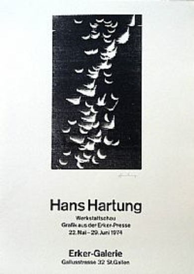 Cartel Original. Erker-Galerie. St. Gallen|Obra gráficadeHans Hartung| Compra arte en Flecha.es
