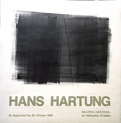 Cartel Original. Galerie Im Erker|Obra gráficadeHans Hartung| Compra arte en Flecha.es