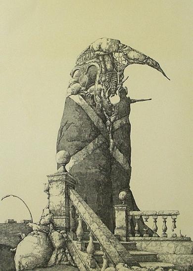 El monumento inacabado|Obra gráficadeJosé Hernández| Compra arte en Flecha.es