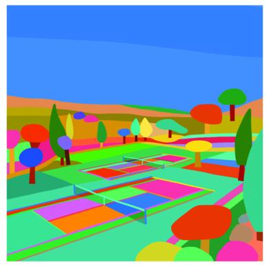 Hockney 2 courts day|DibujodeARTMVG| Compra arte en Flecha.es