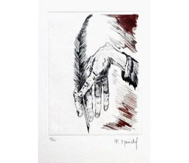 El Testamento de Don Quijote (I)|DibujodeFrançois Marechal| Compra arte en Flecha.es