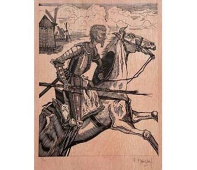 El Testamento de Don Quijote (VIII)|DibujodeFrançois Marechal| Compra arte en Flecha.es