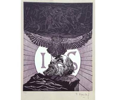 EL Testamento de Don Quijote (XII)|DibujodeFrançois Marechal| Compra arte en Flecha.es