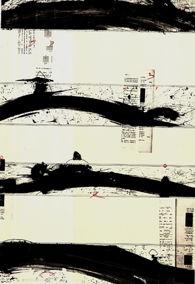 Cuatro manchas horizontales|IlustracióndeEnrique Brinkmann| Compra arte en Flecha.es