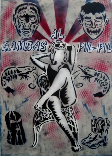 Gambas  Al  Pil - Pil|Obra gráficadeCarlos Madriz| Compra arte en Flecha.es