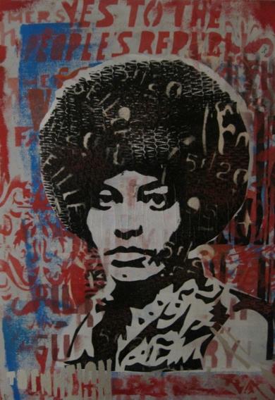 Angela Davis II|Obra gráficadeCarlos Madriz| Compra arte en Flecha.es