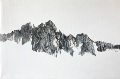 Montaña rocosa|PinturadeMilena Mateva| Compra arte en Flecha.es