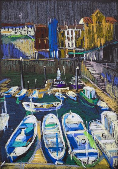 San Sebastian. Marina|PinturadeSasha Romm Art| Compra arte en Flecha.es