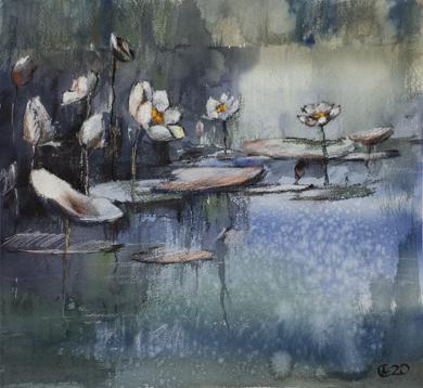 Estanque de Monet|DibujodeSasha Romm Art| Compra arte en Flecha.es