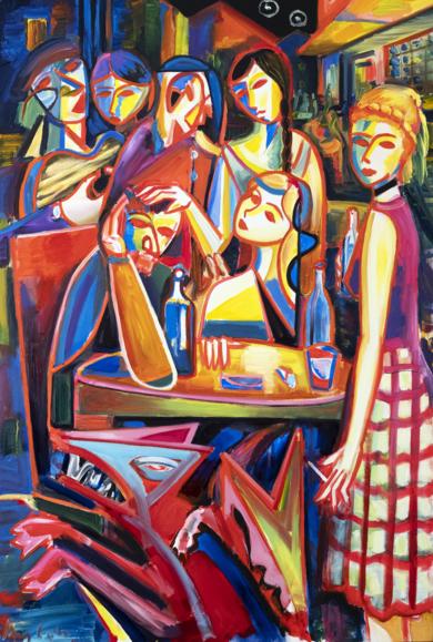 Música, ciudad, mujeres y Oldschool|PinturadeMaciej Cieśla| Compra arte en Flecha.es