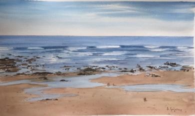 Marea baja 1 Sopelana|PinturadeChela Grijelmo| Compra arte en Flecha.es