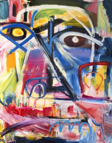 Retrato, inspiración del arte primitivo - abstracción|PinturadeMaciej Cieśla| Compra arte en Flecha.es