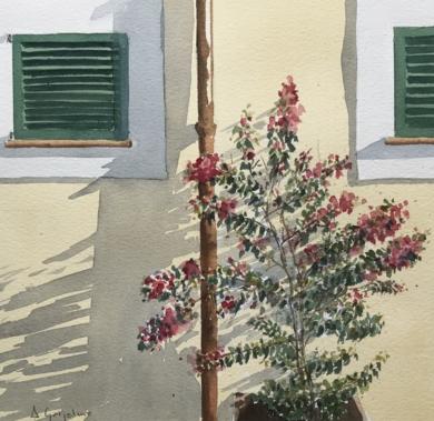 Sombras en la pared|PinturadeChela Grijelmo| Compra arte en Flecha.es