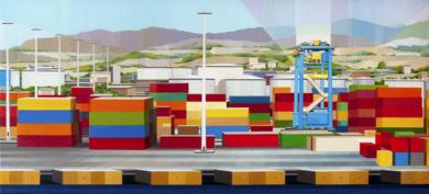 Puerto de Barcelona|PinturadeLuis Monroy Esteban| Compra arte en Flecha.es