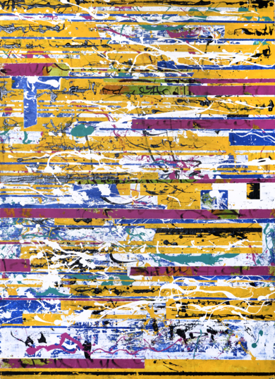 GLITCH AMARELO|PinturadeAna Dévora| Compra arte en Flecha.es