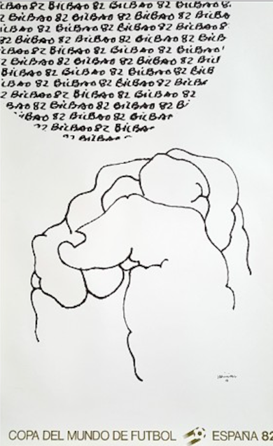 Cartel Original. Mundial|Obra gráficadeEduardo Chillida| Compra arte en Flecha.es