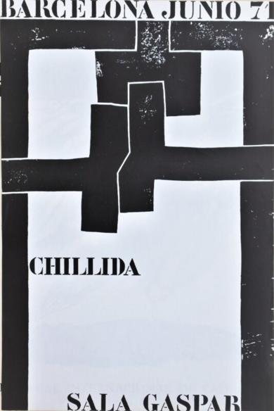 Cartel Original. Sala Gaspar|DibujodeEduardo Chillida| Compra arte en Flecha.es