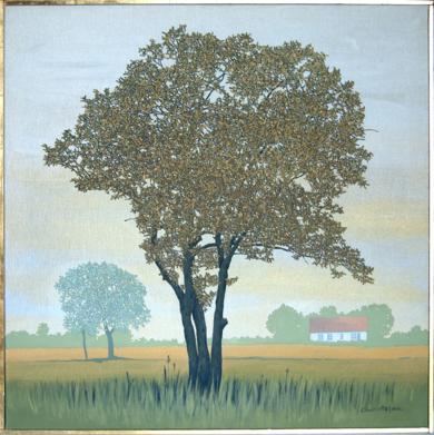 Árbol y casa de Öland|PinturadeCharlotte Adde| Compra arte en Flecha.es