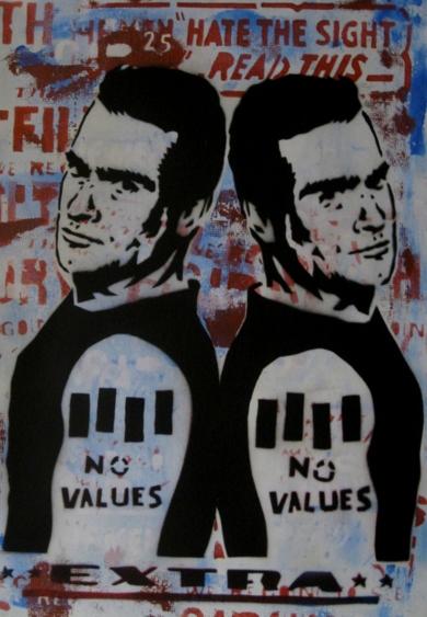 No Values|IlustracióndeCarlos Madriz| Compra arte en Flecha.es