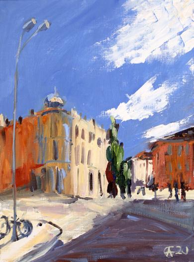 Calle de Salamanca|PinturadeSasha Romm Art| Compra arte en Flecha.es