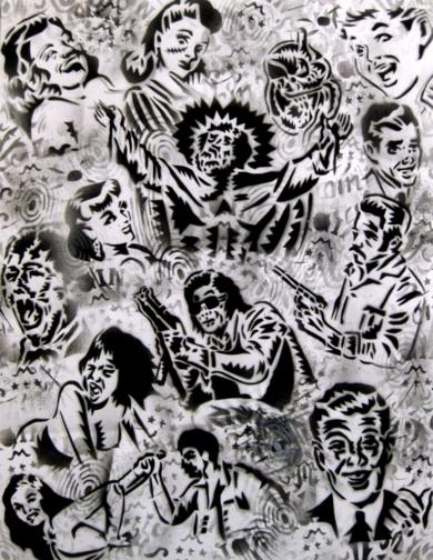 La Fiesta De Los Malditos|IlustracióndeCarlos Madriz| Compra arte en Flecha.es