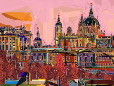 El palacio de Oriente|DigitaldeSantiago Esteban Glez| Compra arte en Flecha.es