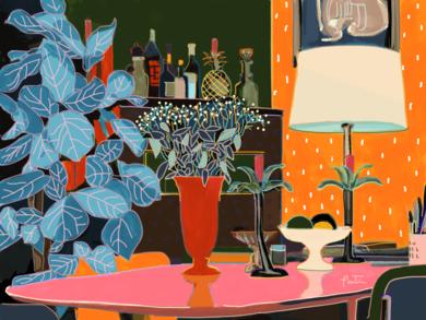 El salón de Clara|DigitaldeSantiago Esteban Glez| Compra arte en Flecha.es