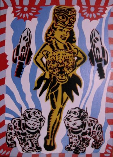 Leyenda Club|PinturadeCarlos Madriz| Compra arte en Flecha.es