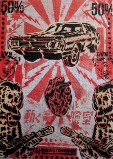 Tonada Del Dodge Coronet|PinturadeCarlos Madriz| Compra arte en Flecha.es