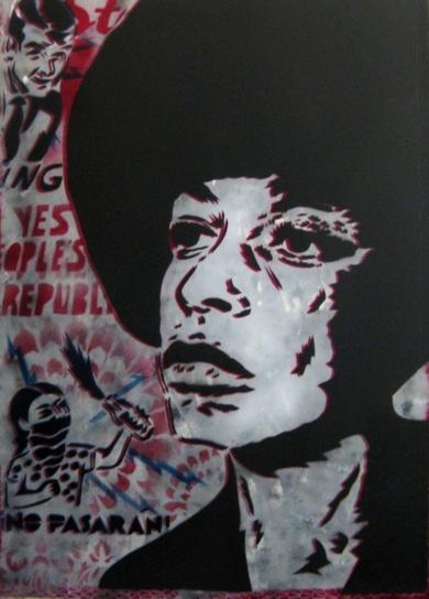 Angela Davis|Obra gráficadeCarlos Madriz| Compra arte en Flecha.es