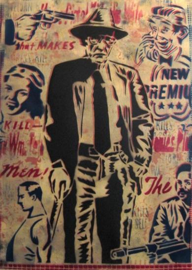 William S.Burroughs|Obra gráficadeCarlos Madriz| Compra arte en Flecha.es
