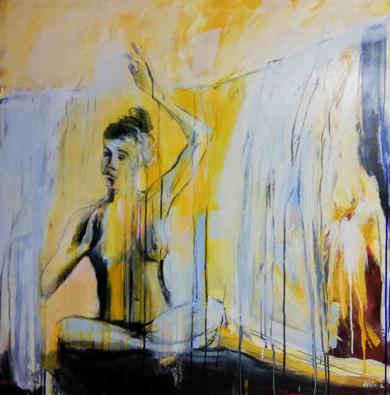 Ela baila...|PinturadeDelio Sánchez| Compra arte en Flecha.es