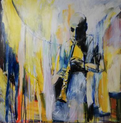 Joshua Redman toca...|PinturadeDelio Sánchez| Compra arte en Flecha.es