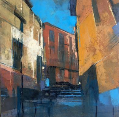 Las Escaleras|PinturadeJENNY FERMOR| Compra arte en Flecha.es