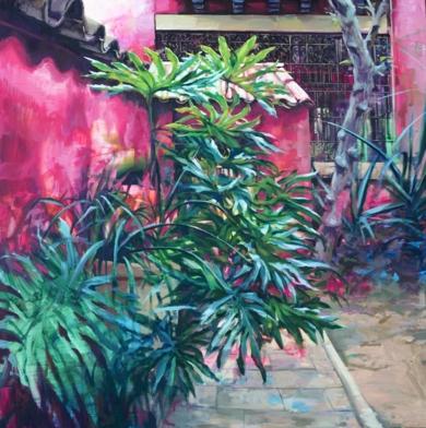 El patio|PinturadeMaría Durá| Compra arte en Flecha.es