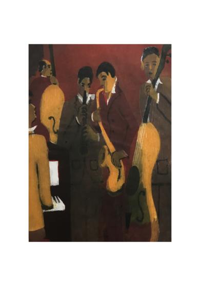 Jazz quinteto II|Obra gráficadeJenifer Carey| Compra arte en Flecha.es