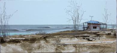Playa rocosa CollagedeEduardo Query  Compra arte en Flecha.es