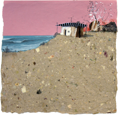 Atardeciendo sobre la playa|CollagedeEduardo Query| Compra arte en Flecha.es