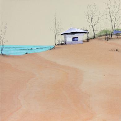 Una playa cálida CollagedeEduardo Query  Compra arte en Flecha.es