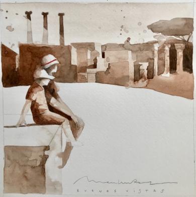 Viaje V|DibujodeMenchu Uroz| Compra arte en Flecha.es