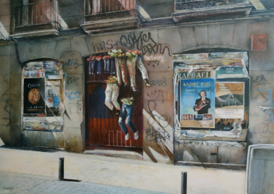 Calle del Pez- Madrid|PinturadeTOMAS CASTAÑO| Compra arte en Flecha.es