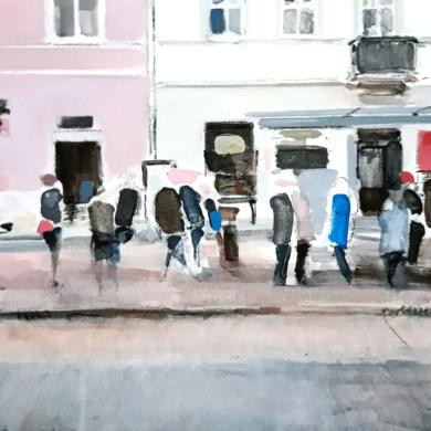 Waiting in Warsaw|PinturadeSaracho| Compra arte en Flecha.es